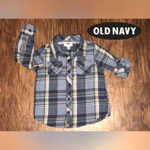 Old Navy Shirts & Tops - ⭐️Old Navy Boys Long Sleeve Plaid⭐️
